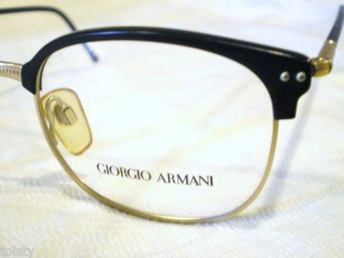 VINTAGE GIORGIO ARMANI EYEGLASSES BLACK GOLD  MOD.350