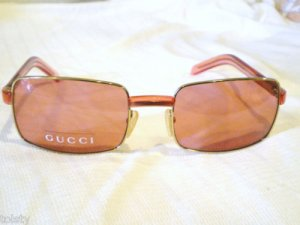 NEW AUTHENTIC GUCCI SUNGLASSES GOLD ROSE MADE IN ITALY