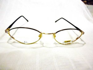 NEW  EYEGLASSES LA PERLA BLACK GOLD MOD. INTRIGUE 48-19-135