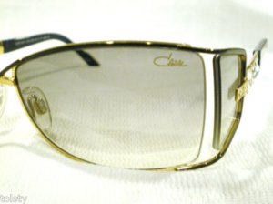 CAZAL SUNGLASSES GOLD BLACK SIDE SHEALD RHINESTONES