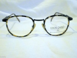 NEW  EYEGLASSES SIMON CHANG FOR RENAISSANCEE BLACK GREY 50-19-130