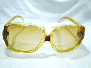 Vintage Ted Lapidus 54 France Paris  Oversized Sunglasses MADE IN FRANCE UNIQUE