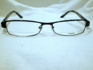 NEW EYEGLASSES MISSONI BLACK  WHITE  SPARKS 54-15-135 SPRING HING  MADE IN ITALY