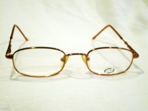 NEW SMALL  EYEGLASSES CE-TRU PINK GOLD 44-18-135 SPRING HINGES