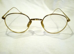 NEW  EYEGLASSES SLOGAN EYEWEAR  P-SHAPE MAT GOLD MOD..93230 48-22-140