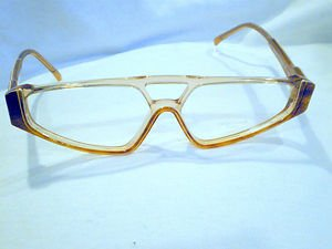 AUTHENTIC VINTAGE ROCHAS PARIS  70'S EYEGLASSES TORTOISE CLEAR  MADE IN FRANCE