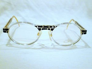 CAZAL CRYSTAL EYEGLASSES  BLACK CLEAR GOLD  MADE IN GERMANY MOD.510
