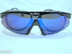 SUNGLASSES BOLLE  SPORT WITH OPTICAL RX  INSERT  BLACK MIRROR ADJUSTEBAL ARMS