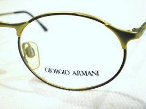 VINTAGE GIORGIO ARMANI  224 EYEGLASSES TORTOISE matte gold