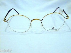 NEW RODENSTOCK ROUND RED DOT AWARDED EYEGLASSES  ANTIQUE GOLD 45-21-135   UNIQUE