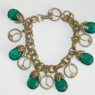 Vintage Jewelry Bracelet Emerald Green