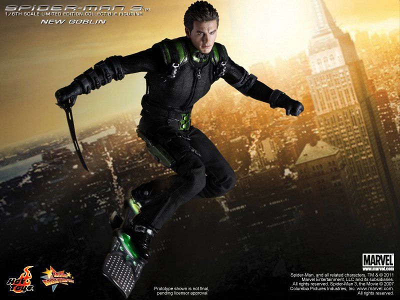 Hot Toys Spiderman 3 New Goblin 12-Inch Figure