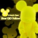 "Toy2R DIY GID Yellow 8"" Qee Bear Vinyl Figure"