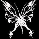 """(BTR 7) 6"""" white vinyl Butterfly die cut window laptop decal sticker."""