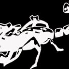 "(SCR 7) 6"" white vinyl Tribal Scorpion die cut window laptop decal sticker."