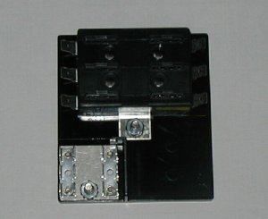 6 Fuse Panel WITH Grounds - uses ATO/ATC Fuses