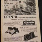 LIONEL TRAINS 1955 AD