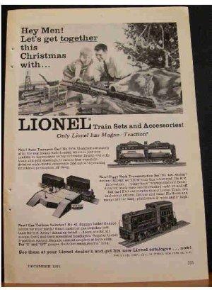 LIONEL TRAINS 1955 AD