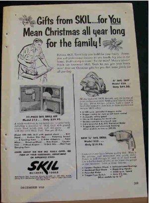 SKIL TOOLS AD CHRISTMAS 1955
