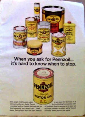 PENNZOIL AD 1970