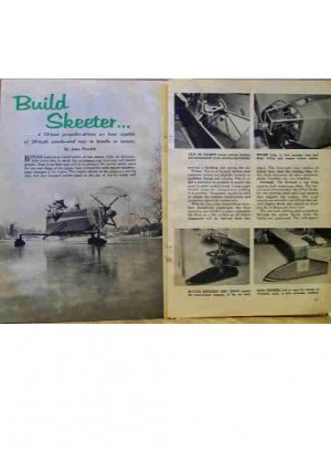 SKEETER (ICE SKIMMER) PLANS 1959