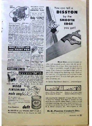 DISSTON AD 1957