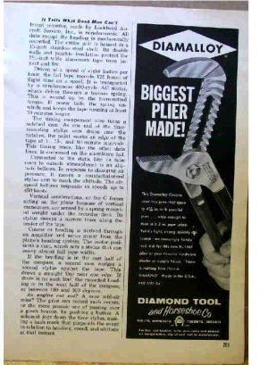 DIAMALLOY AD 1961