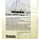MECHANIX ILLUSTRATED SAIL BOAT PLAN AD 1973