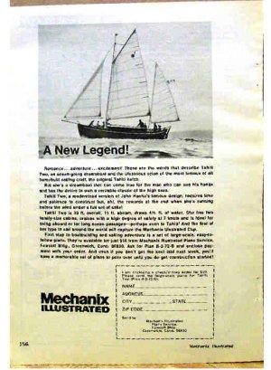 MECHANIX ILLUSTRATED SAIL BOAT PLAN AD 1973