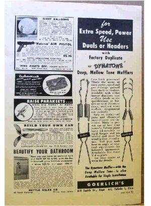 GOERLICH'S MUFFLER AD 1954