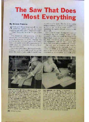 RADIAL ARM SAW AD 1954