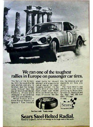SEARS TIRE AD 1973