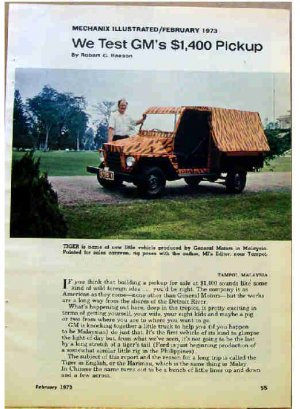 TEST; GM'S $1400 PICKUP ARTICLE 1973