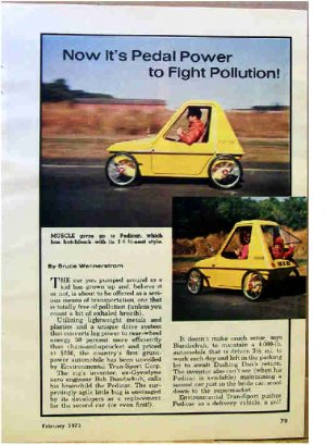 PEDICAR ARTICLE 1973