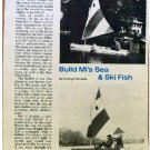 SAIL BOAT / ICE BOAT PLANS 1973