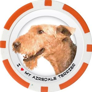 AIREDALE DOG BREED Poker Chips (11.5g) Sold in Packs of 10