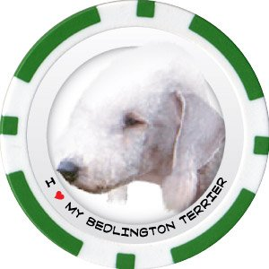 BEDLINGTON TERRIER DOG BREED Poker Chips (11.5g) Sold in Packs of 10