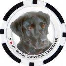 BLACK LABRADOR RETRIEVER DOG BREED Poker Chips (11.5g) Sold in Packs of 10