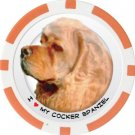 COCKER SPANIEL DOG BREED Poker Chips (11.5g) Sold in Packs of 10