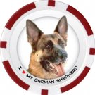 GERMAN SHEPHERD DOG BREED Poker Chips (11.5g) Sold in Packs of 10