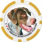 GERMAN SHORTHAIRED DOG BREED Poker Chips (11.5g) Sold in Packs of 10