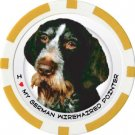 GERMAN WIREHAIRED POINTER DOG BREED Poker Chips (11.5g) Sold in Packs of 10