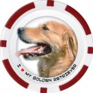 GOLDEN RETRIEVER DOG BREED Poker Chips (11.5g) Sold in Packs of 10