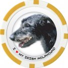 IRISH WOLFHOUND DOG BREED Poker Chips (11.5g) Sold in Packs of 10