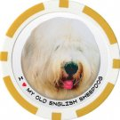 OLD ENGLISH SHEEPDOG DOG BREED Poker Chips (11.5g) Sold in Packs of 10