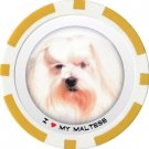 MALTESE DOG BREED Poker Chips (11.5g) Sold in Packs of 10