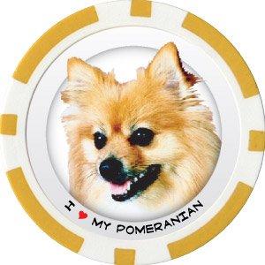 POMERANIAN DOG BREED Poker Chips (11.5g) Sold in Packs of 10