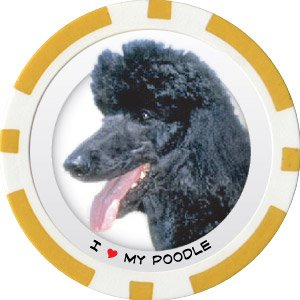 POODLE DOG BREED Poker Chips (11.5g) Sold in Packs of 10