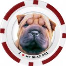 SHAR PEI DOG BREED Poker Chips (11.5g) Sold in Packs of 10