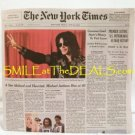 MICHAEL JACKSON DIES NEW YORK TIMES NEWSPAPER
